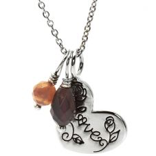 Chrysalis Silver Loving Heart Pendant CRNM38SILV05-40