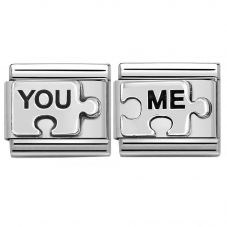 Nomination CLASSIC Silvershine Puzzle Pieces You & Me Bundle