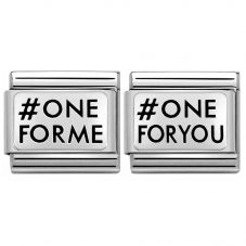Nomination CLASSIC Silvershine #One For Me #One for You Bundle