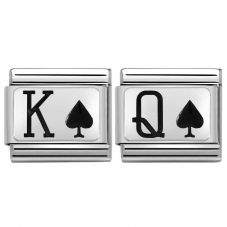 Nomination CLASSIC Silvershine King & Queen of Spades Bundle