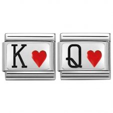 Nomination CLASSIC Silvershine King & Queen of Hearts Bundle