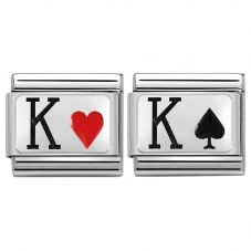 Nomination CLASSIC Silvershine King of Hearts & Spades Bundle