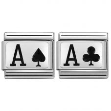 Nomination CLASSIC Silvershine Ace of Spades & Clubs Bundle