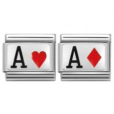 Nomination CLASSIC Silvershine Ace of Hearts & Diamonds Bundle