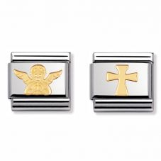 Nomination CLASSIC Gold Heavenly Angel Charm Set
