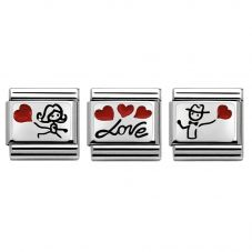 Nomination CLASSIC Silvershine Love Hearts Charm Set
