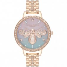 Olivia Burton Ladies Sparkle Bee Bracelet Watch OB16GB04