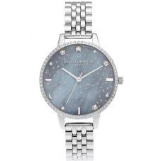 Olivia Burton Ladies Night Sky Demi Dial Silver Bracelet Watch OB16GD65