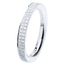 Henrich and Denzel Lily- Platinum Two Row 0.52ct Diamond Eternity Ring P4875-01