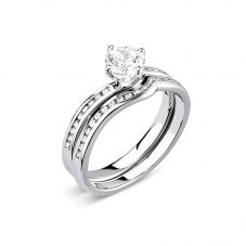 Platinum Shaped Diamond-Set Wedding Ring (J) WR1-137