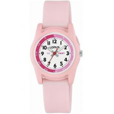 Lorus Childrens Pink Rubber Strap Watch R2357NX9