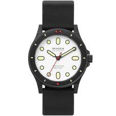 Skagen Mens Fisk Rubber Strap Watch SKW6667