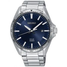 Seiko Mens Discover More Solar Bracelet Watch SNE483P1