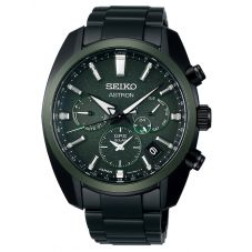 Seiko Mens Astron Green Dial GPS Solar Watch SSH079J1