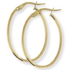9ct Gold Oval Hoops ST-ER584