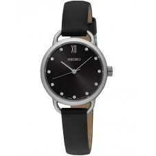 Seiko Ladies Leather Strap Watch SUR699P1