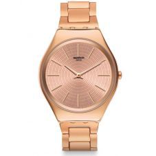 Swatch Ladies Goldtralize Bracelet Watch SYXG110G