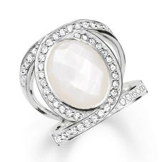 THOMAS SABO Silver Mother of Pearl Ring TR2015-030-14