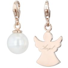 THOMAS SABO Rose Gold Plated Guardian Angel and Pearl Set TSBB065