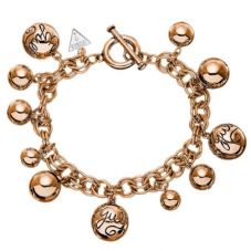 Guess Rose Gold Plated Ball Charm Bracelet UBB51201
