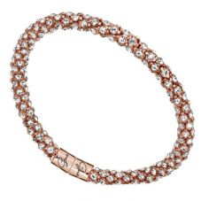 Guess Rose Gold Plated Steel Pavé Crystal Bangle UBB81334