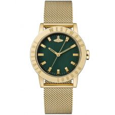 Vivienne Westwood Ladies Warwick Gold Mesh Bracelet Watch VV213GRGDMH