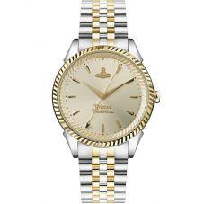 Vivienne Westwood Ladies Seymour Two-Colour Bracelet Watch VV240CPSG
