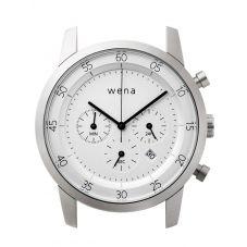 Wena Wrist Quartz Chronograph White Watch Head WNWHWC01BW.AE