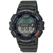 Casio Mens Fishing Gear Green Digital Strap Watch WS-1200H-3AVEF