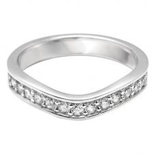 Platinum 0.13ct Diamond Set Wedding Ring (M) WS24(2.5)