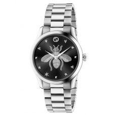 Gucci Ladies G-Timeless Black Dial Bee Motif Bracelet Watch YA1264136