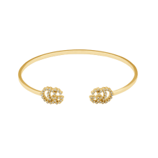Gucci Gg Running 18ct Gold Diamond Cuff Bangle YBA607592001017