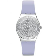 Swatch Ladies Lovely Lilac Strap Watch YLS216