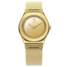 Swatch Ladies Holiday Irony Luminescent Sand Watch YSG167M
