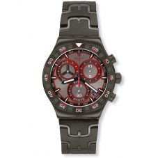 Swatch Mens Crazy Drive Chronograph Watch YVM406G