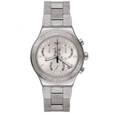 Swatch Holiday Irony Chrono Silver Explosion Watch YVS472G