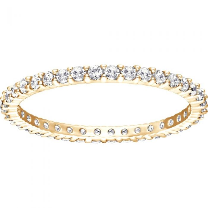 gold-tone swarovski crystal eternity ring