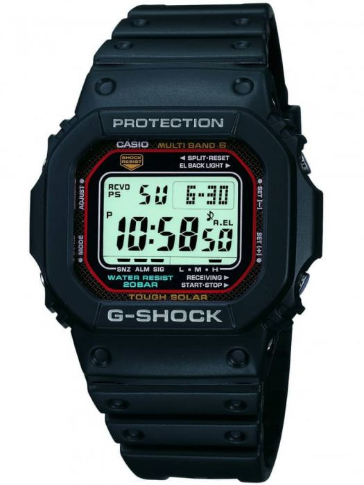 casio black strap watch