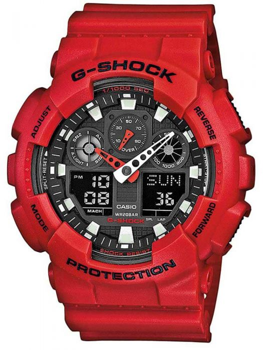 casio g shock red plastic watch