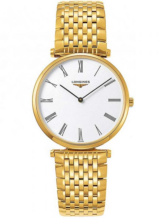 gold plated longines bracelet watch