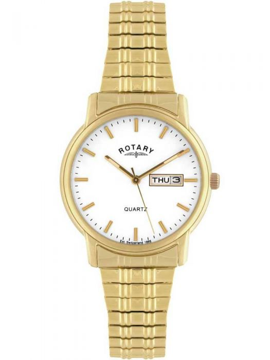 gold rotary bracelet watch