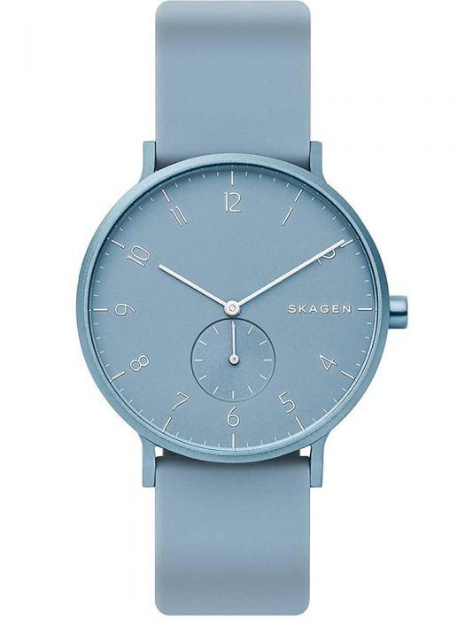 blue rubber skagen watch